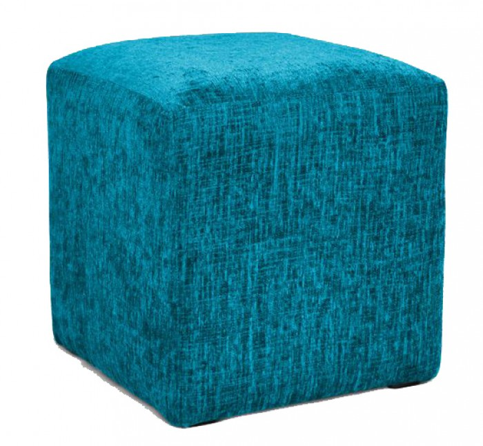Hand Made Tael Chenille Effect Fabric Footstool Cube