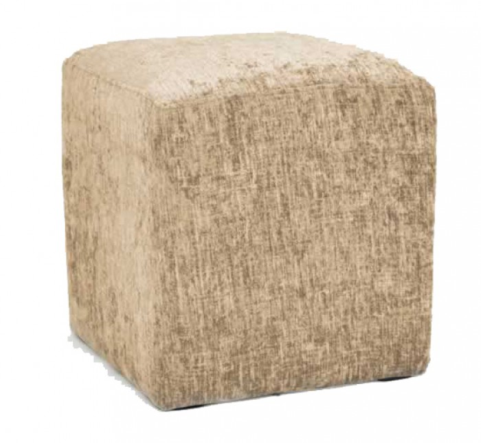 Hand Made Mink Chenille Effect Fabric Footstool Cube