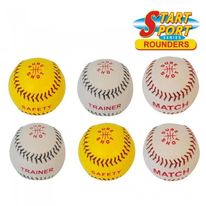 SURE SHOT Rounder Balls - Pack Of 6