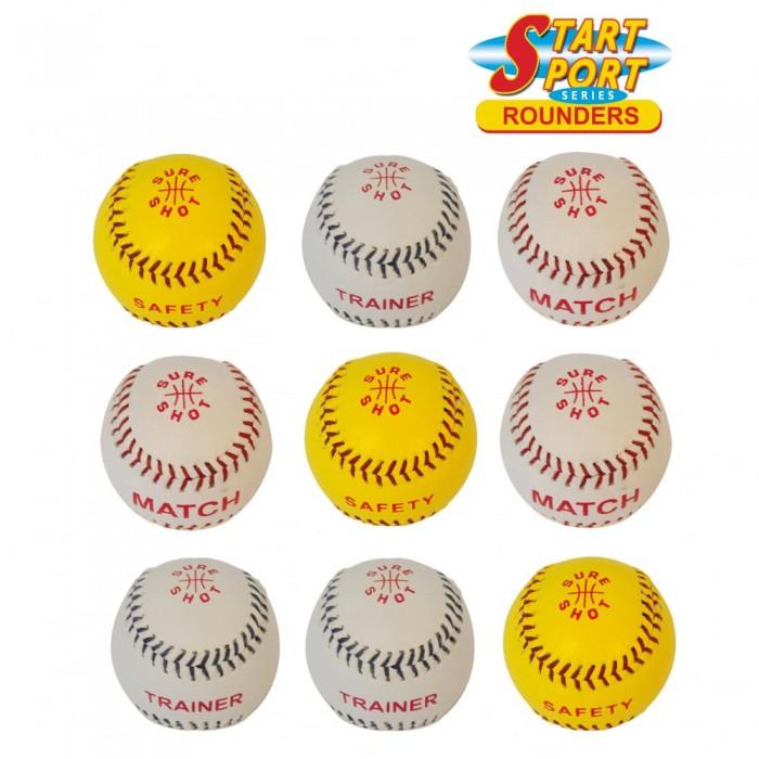 SURE SHOT Rounder Balls - Pack Of 9