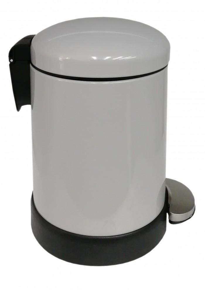 Classic Style Powder Coated Soft Close Pedal Bin, Plastic Inner bucket, ABS lid - Grey