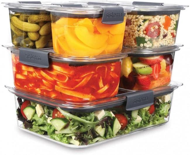 Sistema Brilliance 6 Piece Food Storage Set with Lids